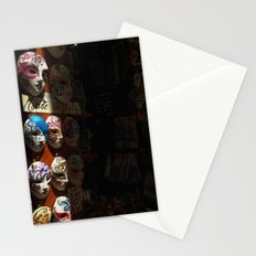 Venetian masks (2) Stationery Cards