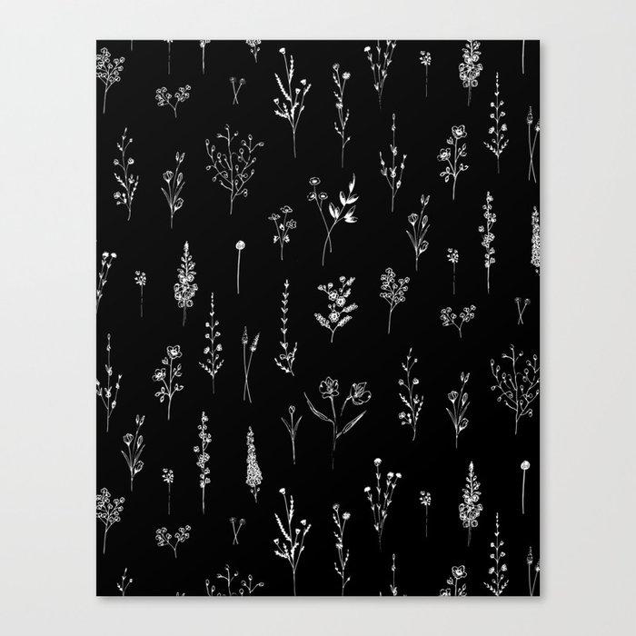 Black wildflowers Leinwanddruck
