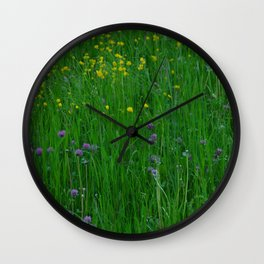 Summer in the pasture Wall Clock