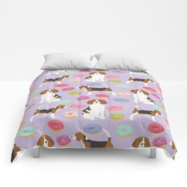 Beagle donuts cute gifts for pure breed dog lover beagles owners Comforters