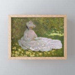 Springtime by Claude Monet Framed Mini Art Print