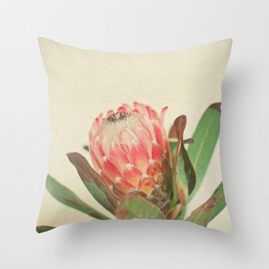 Pink Ice Throw Pillow