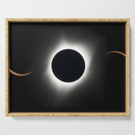 1803. 2017 Total Solar Eclipse Serving Tray