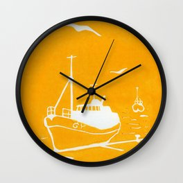 Comrades in Yellow Wall Clock