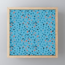Terrazzo vector seamless pattern Framed Mini Art Print