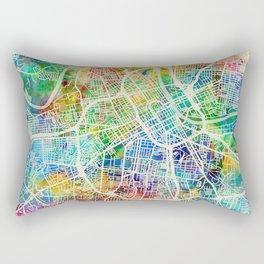 Nashville Tennessee City Map Rectangular Pillow