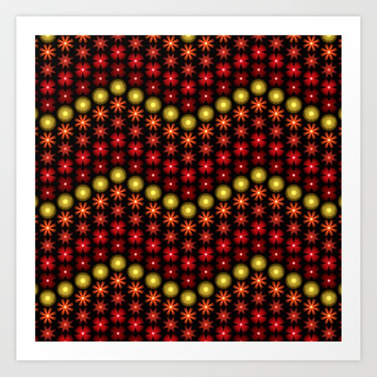 Beaded Chevrons II Art Print