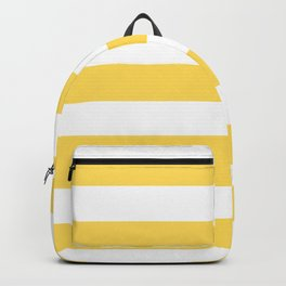 Mustard - solid color - white stripes pattern Backpack