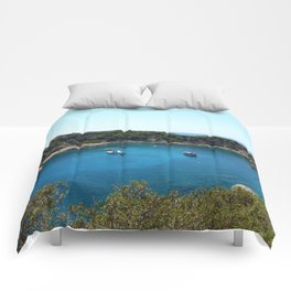 Rhodes Greece Anthony Quinn Bay Comforters