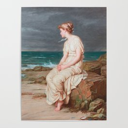 John William Waterhouse Miranda 1875 Poster