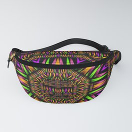surrounded by  ornate  loved candle lights in mandala star shine Fanny Pack