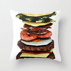 Graphic Burger Throw Pillow