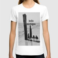 michigan T-shirts featuring Hello Michigan by KimberosePhotography