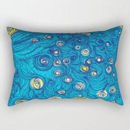 Modern painted art piece Rectangular Pillow