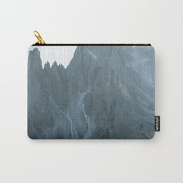 Dolomites mountain range in italy with hiker sunset - Landscape Photography Carry-All Pouch