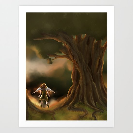 Under the Great Old Tree Art Print