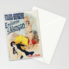 Folies Bergère 1893 Emilienne d'Alencon Stationery Cards