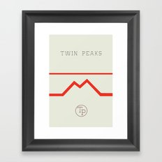 Twin Peaks High School Framed Art Print