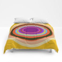Mod World Circles on Gold Comforters