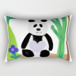 It's a Panda's World of Love Rectangular Pillow