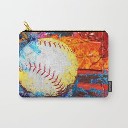 Colorful Baseball Art Carry-All Pouch