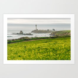 The lighthouse of highway 101 Art Print