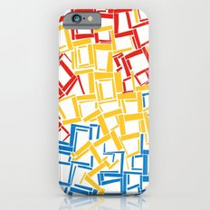 rectangles in primary colours iPhone 6s Slim Case