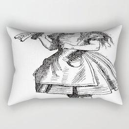 Alice Drink Me Bottle Alice in Wonderland in Black with Transparent Background Rectangular Pillow
