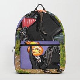 Head-less Horseman & IchabodCrane Exchanging Pumpkin For Pie Under Harvest Moon Backpack
