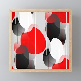 Modern Anxiety Abstract - Red, Black, Gray Framed Mini Art Print