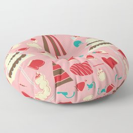 Vintage Christmas Pink Floor Pillow