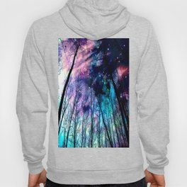 Black Trees Colorful SpacE Hoody