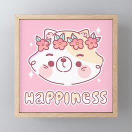Happiness Framed Mini Art Print