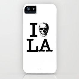 I Skull LA iPhone Case