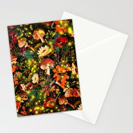 Night Garden and Fireflies Stationery Cards