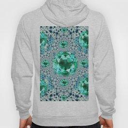 Emerald Gems May Birthstones Optical Pattern Hoody