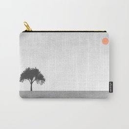 Tree Artwork Grey And Black Landscape Carry-All Pouch