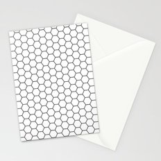 White Hex Stationery Cards