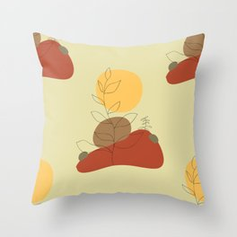 Desert plants Throw Pillow