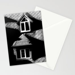 windows on old penthouse Stationery Cards