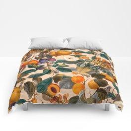Vintage Fruit Pattern IX Comforters