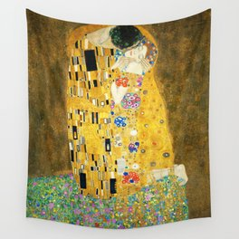 Gustav Klimt The Kiss Wall Tapestry