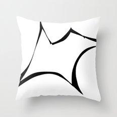 Dog 001 B&W Throw Pillow