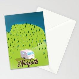 Norfolk Caravan travel map Stationery Cards