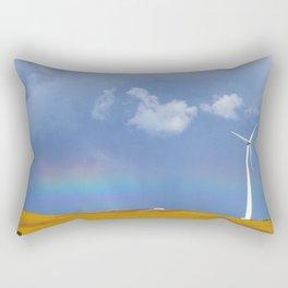 rainbow and windmill Rectangular Pillow