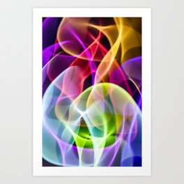 Smoking All The Rainbow Swirls Art Print