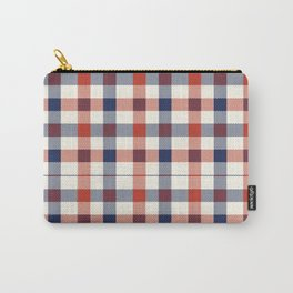 Plaid Red White And Blue Lumberjack Flannel Carry-All Pouch
