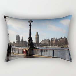 Banks of the River Thames Rectangular Pillow