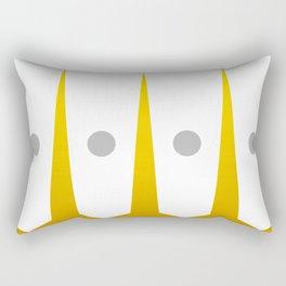 Mid Century Muse: Moonliner in Mustard Rectangular Pillow
