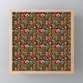 Earth Day Flowers (Brown) Framed Mini Art Print